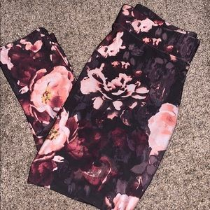 Floral Workout Leggings/ High Rise